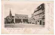 Ansichtskarte Quedlinburg Marktplatz und Rathaus