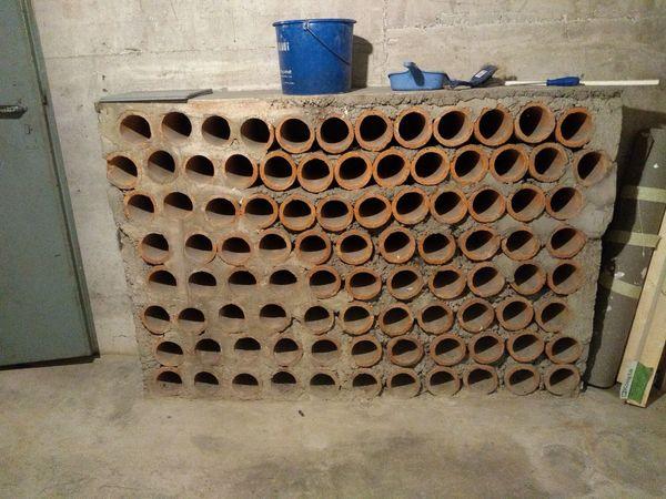 Tonröhren für Weinregal oder Ähnliches