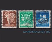 3 gestempelte Briefmarken DR Wiener