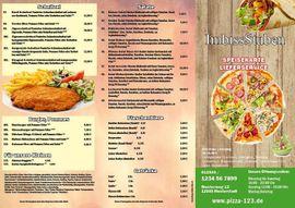 Gastronomie, Ladeneinrichtung - Pizza Flyer Flyer Lieferservice Imbiss