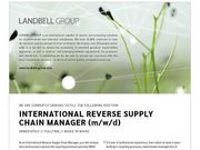 International Reverse Supply Chain Manager