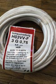 Kabel weiss neu 10 Meter