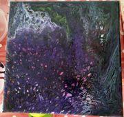 Wandbild 20cmx20cm Acryl Pouring