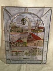 Bleiverglasung Motiv Haßloch Pfalz Fensterbild