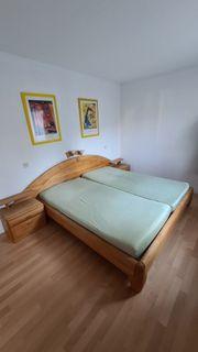 Bett 2x2 Meter Liegefläche Massivholz