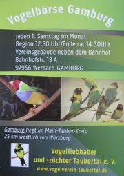 Vogelbörse Gamburg jeden ersten Samstag