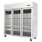 Gewerbekühlschrank Kühlregal Wandkühlregal Edelstahl - Supermarkteinrichtung
