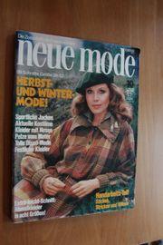 zeitschrift neue mode Oktober 1978