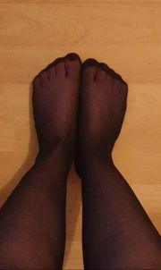 Getragene Socken und Nylon ganz
