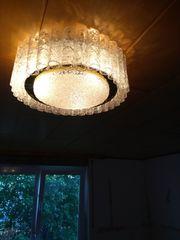 Kristall-Deckenlampe mit zwei Wandleuchten