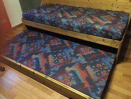 Betten - Massivholz-Bett 200x90 cm ausziehbar als