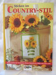 Sticken im Country-Stil Stickvorlagen Anleitungs-Buch