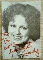 Autogrammkarte von Sandy Leiser mit