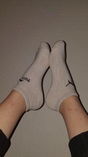 Getragene Socken oder Unterwäsche
