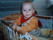 Baby und Kinderbett aus Kiefer
