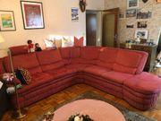 Sofa Eck Garnitur Couch rot