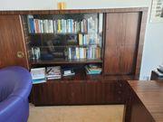 Palisander-Holz Wandschrank und Schreibtisch