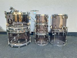 Drums, Percussion, Orff - Vintage-Drum-Set SONOR Phonic Acryl smokey
