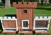 Kaninchenstall Hasenschloss 015 NEU