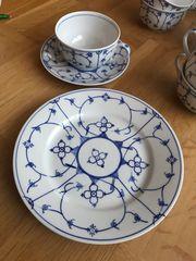 11 Gedecke Indisch blau Porzellan