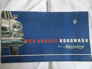 Borgward P100 Originales Farbprospekt keine