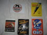 6 Blech-Schild Reklame Werbe-Schild 15x10
