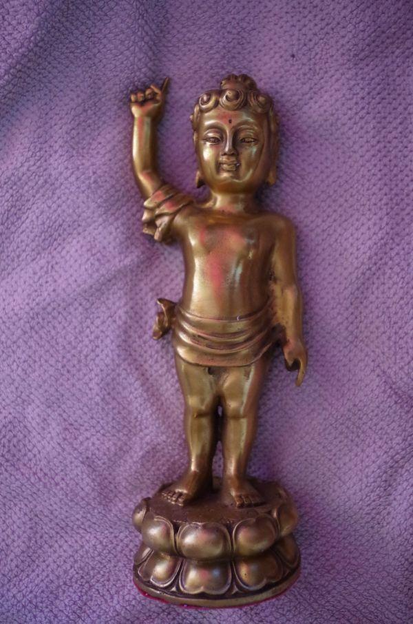 Große Engel Buddha Kind Skulptur