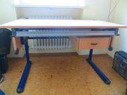 Schreibtisch mit Stuhl - höhenverstellbar