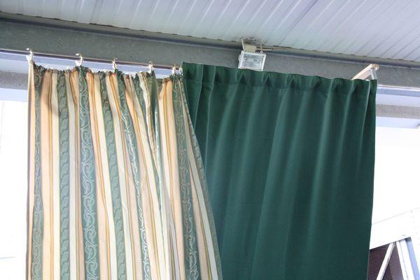 6 x Vorhänge Gardinenschals gestreift