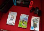 Nintendo Switch mit 3 spielen
