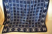 Chanel Tuch Seidenschal in Blau