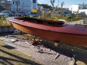 Segelboot Holz Schwertzugvogel mit Trailer