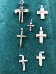 Ketten-Anhänger Kreuz aus Stahl oder