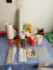 Picknick - Becher und Besteck Kühlbox
