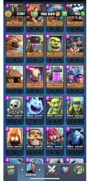 Clash Royale Account Maxed Out