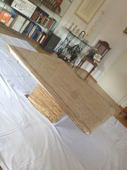 Wohnzimmertisch 110x110 cm aus Travertino