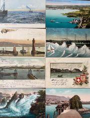 8 alte Ansichtskarten von Bodensee-Städten