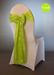 grüne Taft Stuhlschleifen mieten Stuhlbänder