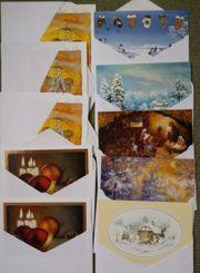 10 Weihnachtskarten 6 Flaschengeschenktaschen 2