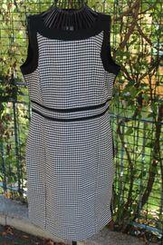 schwarz-weißes Kleid v Cortefiel Gr