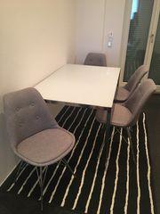 Designer Esstisch mit skandinavia Stühlen