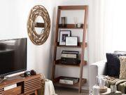 Bücherregal dunkler Holzfarbton MOBILE TRIO