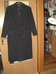 Schurwolle Mantel Gr 38 schwarz