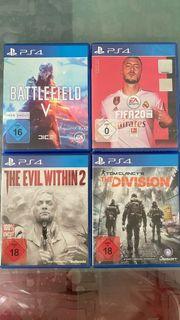 PS4 Spiele wie neu 8Stück