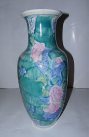 Große Blumenvase Vasen handgemacht handbemalt