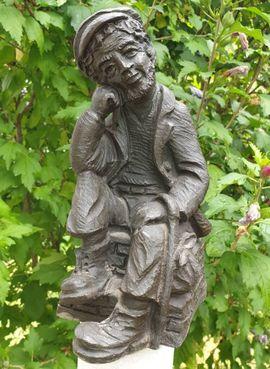 Figur Wanderer, Vagabund Schnitzoptik