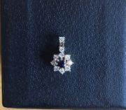 585 Gold Kettenanhänger mit Diamanten