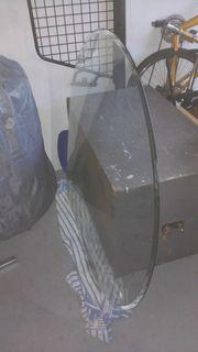 Glasbodenplatte für Kamin Tropfenform