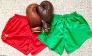 Boxhandschuhe mit Hosen