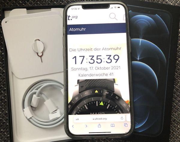 Apple iPhone 12 Pro Max, 128 GB, PacificBlue, TOP Zustand, Restgarantie, wegen Umstieg auf 13 PM